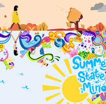Summer is a state of mind. A Vector illustration project by Laura Colored         - 09.09.2017