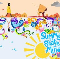 Summer is a state of mind. Um projeto de Ilustración vectorial de Laura Colored         - 09.09.2017