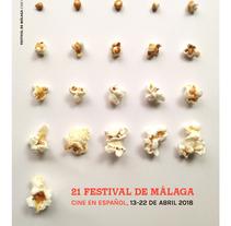 POSTER — Festival de Cine de Málaga. A Art Direction, Events, Graphic Design, and Film project by Sara Marques - 04-10-2017