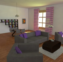 Habitación realista en 3D. A Design, and 3D project by Edith Llop Roselló         - 20.08.2017