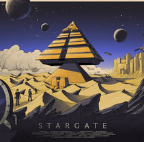 Stargate. A Illustration, Graphic Design, and Screen-printing project by Cristian Eres - 19-10-2017