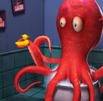 Octopus - Diseño 3D. A Design, 3D, Character Design, Post-Production, and Digital retouching project by Mario Marín García         - 14.07.2015