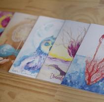 Colección Postales con Alma. A Illustration project by Ununú Original art         - 01.12.2016