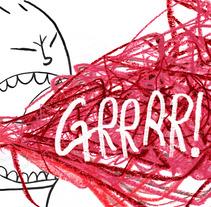 ¡¡¡¡GRRRRR!!!. A Illustration project by Ávelin Ilustradora         - 24.10.2017