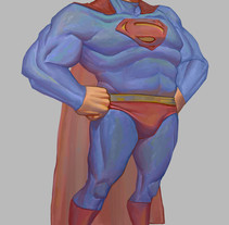 Superman - Fanart. A Illustration, Character Design, Painting, and Comic project by Juan David Muñoz Rico - 26-10-2017