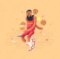 Selección Española Eurobasket. A Character Design, Graphic Design, and Vector illustration project by Adrián  Balastegui         - 07.09.2017