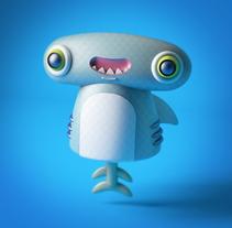 Marti el tiburón martillo! Primera mascota en C4D :). A Character Design project by Andrés Gómez - 27-10-2017