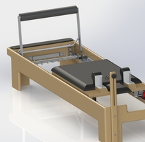 Pilates Reformer. A Design, 3D, Animation, Furniture Design, Industrial Design, Product Design, and Video project by Jose Rafael Farfan Fernandez         - 28.03.2015