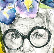 Iris Apfel . A Illustration, Collage, and Vector illustration project by Irina Fokina         - 29.10.2017