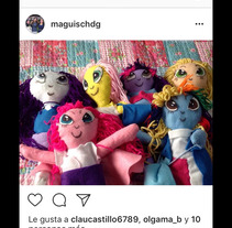 Muñecas artesanales. A 3D, and Character Design project by Magui Sagastume          - 29.10.2017