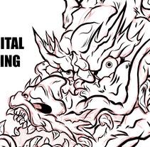 Asian Dragon. A Design, Illustration, and Street Art project by Juan  Agulló Medina         - 10.10.2017