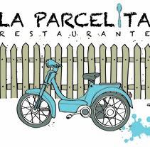"""Logotipo para Restaurante.""""La Parcelita"""". Un proyecto de Diseño gráfico de Mónica Fernández         - 04.11.2015"""