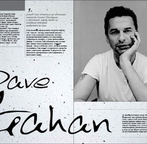 Lyudi / Dave Gahan - Hourglass. A Editorial Design project by Radi G.         - 05.10.2007