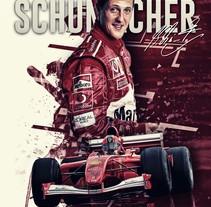 Poster Design Michael Schumacher. A Design project by Ignacio Tenaglia         - 12.11.2017