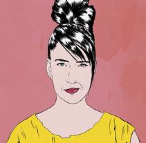 Kathleen Hanna portrait. Un proyecto de Diseño, Ilustración, Bellas Artes, Comic y Retoque digital de Cristina Jiménez         - 13.11.2017