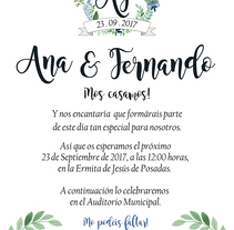 Invitación de boda. A Graphic Design project by Patricia Vilches         - 15.11.2017