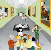 Ilustración material didáctico para el Museo Nacional Del Prado. El Prado en Familia. A Illustration, and Vector illustration project by Marta Jiménez         - 28.11.2017