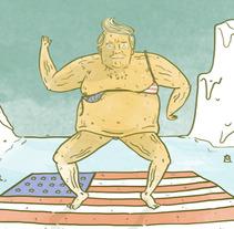 Trump y Calentamiento global. A Illustration project by John Sastoque         - 05.07.2017