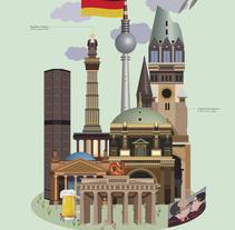 Infografía Berlín / Inphography. A Illustration, Graphic Design, Infographics, and Vector illustration project by Marta León Martínez         - 06.12.2017