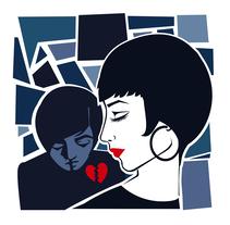 BROKEN BLUE (Ilustración). Un proyecto de Ilustración e Ilustración vectorial de Cristina Bustamante - 03-12-2017