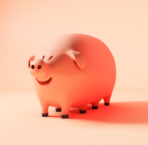 Octopig. A Illustration, 3D, and Character Design project by Sergio Casado González         - 13.12.2017
