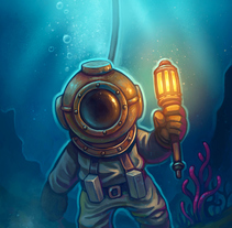 Explorando el fondo marino. A Illustration project by Rubén Megido         - 27.12.2017
