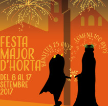 Cartell Festa Major. A Illustration, and Events project by Clementine Suraud         - 20.06.2017