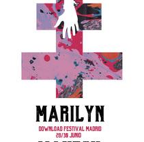 Cartel Marilyn Manson. Um projeto de Design, Música e Áudio, Direção de arte e Design gráfico de Raúl Covisa Romero - 15-01-2018