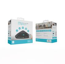 Packaging: Control Remoto Universal Inteligente IR/RF WIFI - muvit I/O. A Graphic Design, Packaging, Digital retouching&Icon design project by Amanda Aliaga Barba         - 30.08.2017