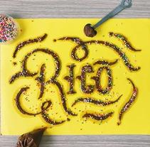 ¡Rico! - Chocolate Lettering. Un proyecto de Diseño, Dirección de arte, Tipografía y Lettering de Nubia Navarro         - 19.01.2018