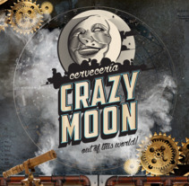 Carteles - Crazy Moon - Cervecería. A Design, Illustration, and Art Direction project by Ademar García         - 23.01.2018
