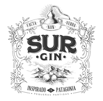 SUR GIN. A Design, Illustration, Packaging, and Lettering project by Diego Giaccone - 24-01-2018