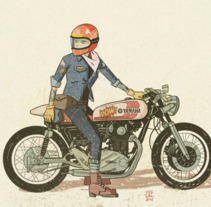 Motor Girl. Um projeto de Ilustração de KIKE J. DÍAZ         - 29.01.2018