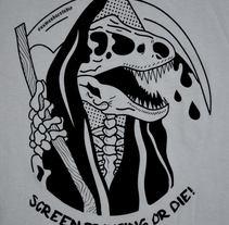 Screen Printing Or Die! [Nuwanda Estudio Logo]. A Design, Illustration, Crafts, Graphic Design, and Screen-printing project by Alberto S. Manzano         - 06.02.2018