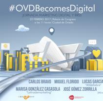 Cartel 'Ovd Becomes Digital'. Um projeto de Design gráfico de Catuxa Barreiro         - 16.02.2018