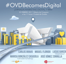 Cartel 'Ovd Becomes Digital'. Un proyecto de Diseño gráfico de Catuxa Barreiro         - 16.02.2018
