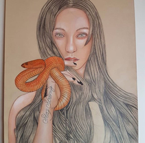 Mi Proyecto del curso: Ilustración con pastel y lápices de colores. A Illustration project by Mireia         - 02.03.2018
