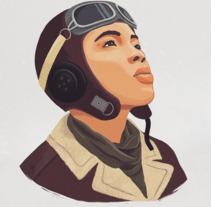 Aviadora. A Illustration project by grina_dg         - 01.08.2017