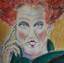Bette Midler. A Illustration, Fine Art, and Film project by Marina Romero Velasco         - 04.03.2018