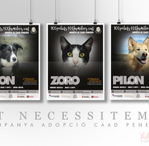 Campanya publicitària d'adopció animals. A Advertising, and Graphic Design project by Montse Sala         - 06.03.2018
