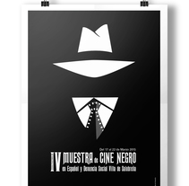 Cartel Muestra de Cine Negro #poster, #graphicdesing, #illustration. Um projeto de Design editorial e Design de informação de Fabian L. García Acevedo         - 08.03.2018