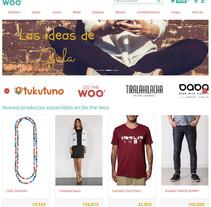 Do the Woo: tienda online de moda sostenible. Um projeto de Informática, Web design e Desenvolvimento Web de Eduardo Millán         - 19.03.2018