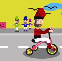 Duende Ciclista - Mi Proyecto del curso: Animación y diseño de personajes en After Effects - by www.marcmultimedia.com. A Character animation project by Marc Multimedia         - 20.03.2018