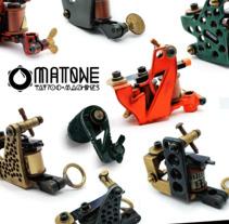 MaTone Tattoo Machines. A Design, 3D, Crafts, Graphic Design, Industrial Design, and Web Design project by Matuka Matone         - 20.03.2018