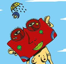 Mujer con cabeza cuadrada. Um projeto de Ilustración vectorial de Chuy Velez         - 01.09.2017