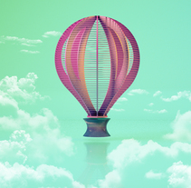 Balloon Sky. A Illustration, and 3D project by Marc Bupe         - 21.03.2018