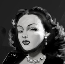 Hedy Lamarr.. A Illustration project by Josep Giró         - 11.01.2018