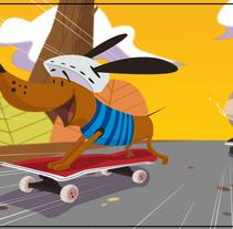 Backgroun Design for HAMPA STUDIO. A Illustration, Film, Video, TV, Animation, Fine Art, Character animation, and Vector illustration project by Daniel Zapata Viciana         - 01.04.2018