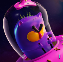 SpaceCat. A Illustration, 3D, and Character Design project by Juan Rueda         - 02.04.2018