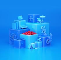 Santalucia Cubes. Un proyecto de 3D, Dirección de arte y Diseño gráfico de JVG         - 03.04.2018
